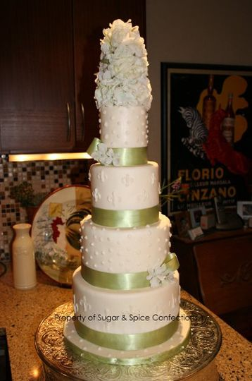 Fondant cake with Spring green tones.