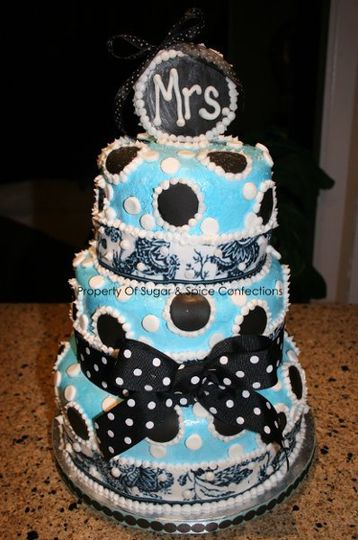 Bridal Shower Cake Inspired from the rinted invitation design.