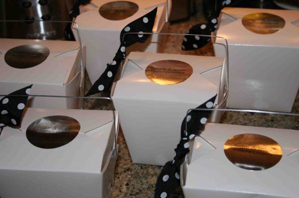 Our individually boxed Bridal favors can have your own custom logo or label made for box too!