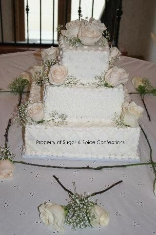 Ivory Butter Cream with Real Roses. (Lions Gate Country Club)