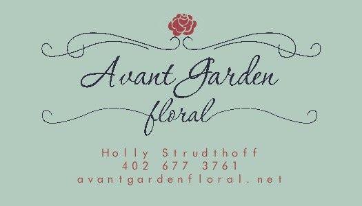 avant garden floral ad darker text
