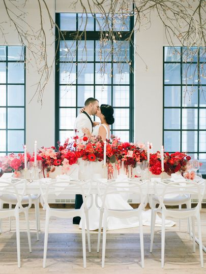 Red Floral Decor
