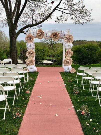 Decorated Ceremony Trellis
