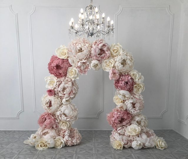 Giant Peony and Rose Backdrop