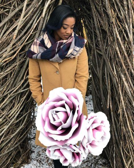 Giant Ombré Roses