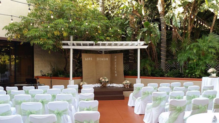 Wedding ceremony arae