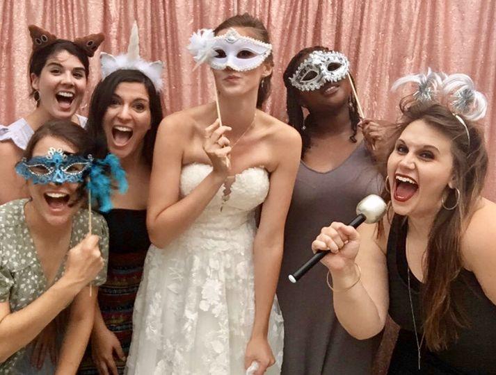 Beautiful bride & her besties