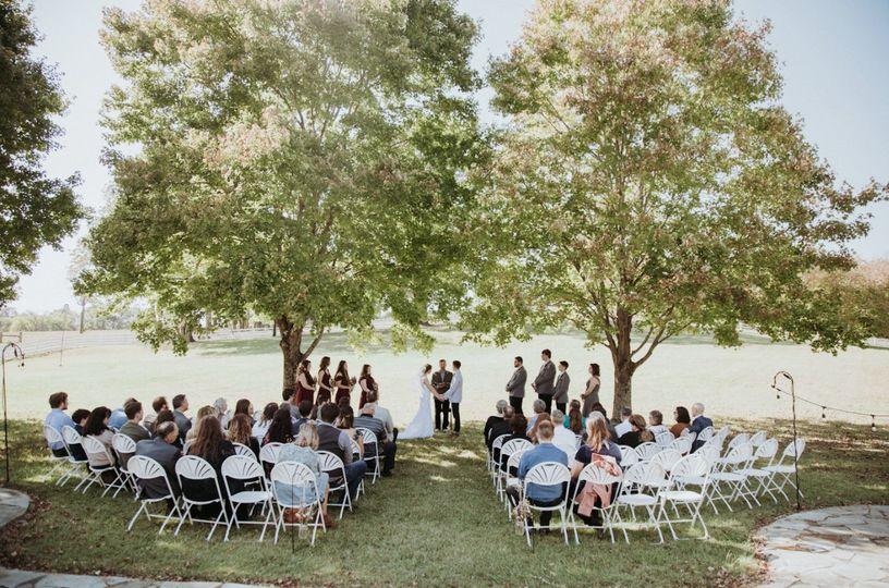Just one location wedding