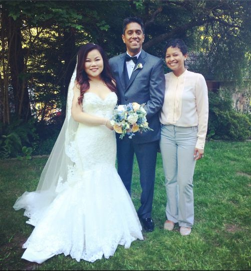 Put together a custom ceremony in 10 days for this couple married in the redwoods of Sebastapol.