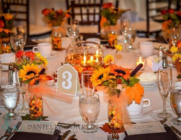 Yellow themed table decoration