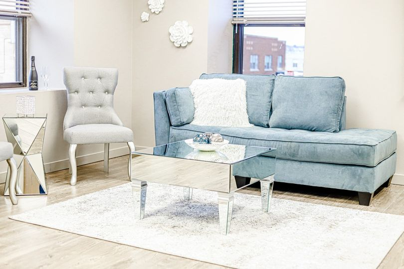Bright, airy get-ready room