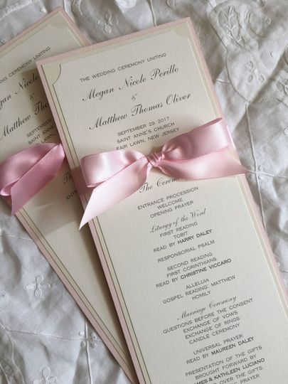 Our stylish program is double sided, your names, wedding date and venue are proudly displayed above...