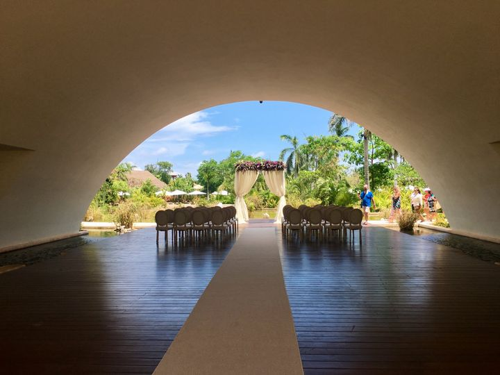 Cancun wedding setup