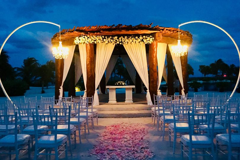 Wedding setup and aisle decor