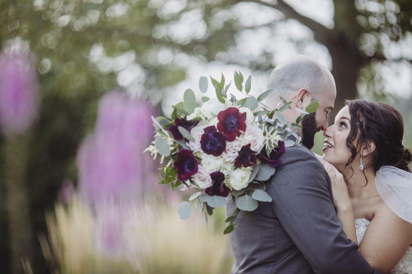 Burgundy,blush,white bouquet