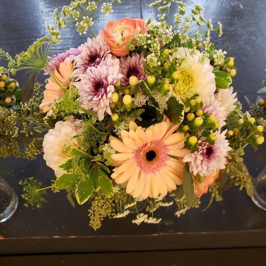 Peach and lavender bouquet