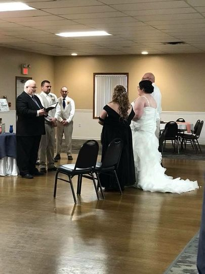 Officiant in a wedding