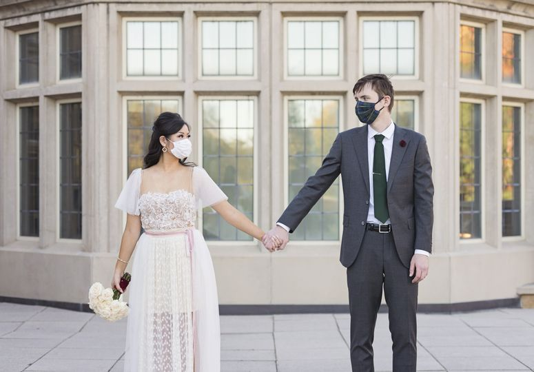Masked and ready to get married