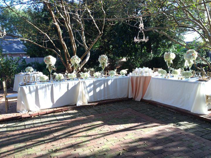 White table setup for food