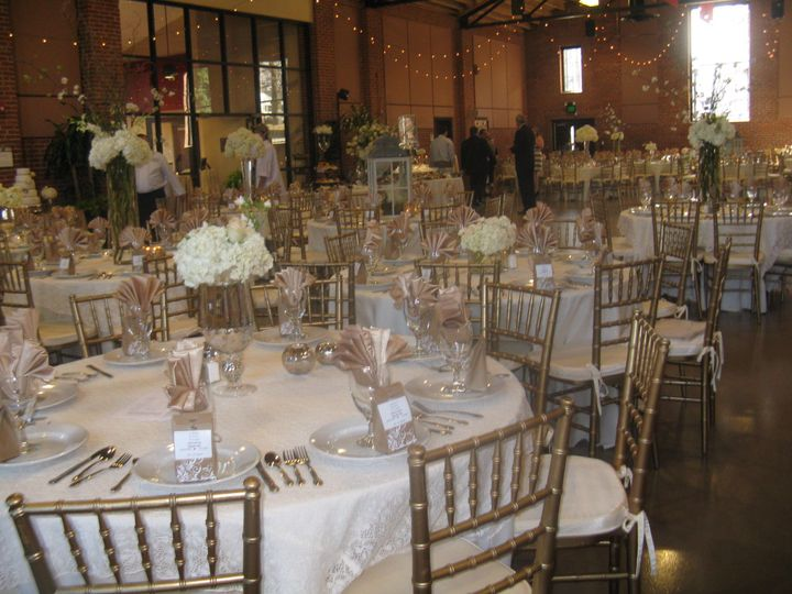 Table setup with glasses and platings
