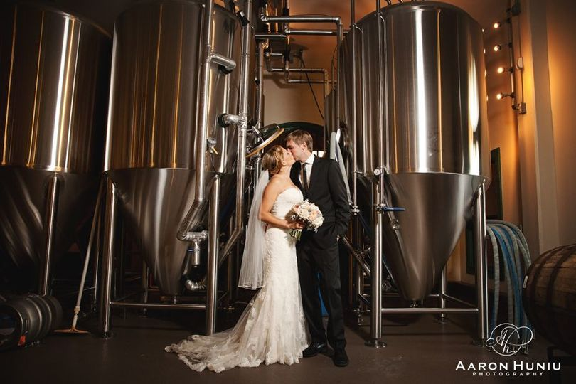 Couple photo in brewery