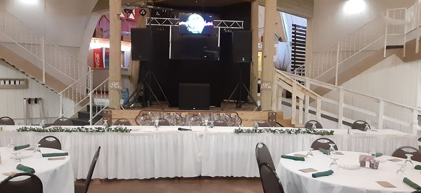 Setting up for 4/24/21 wedding