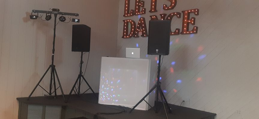 Small set up for an intimate venue