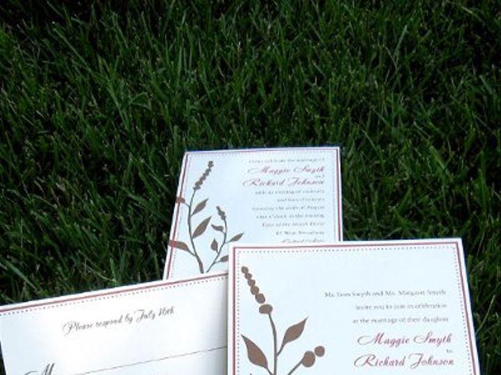 Tmx 1313946645528 IMG2657 Fairfield wedding invitation