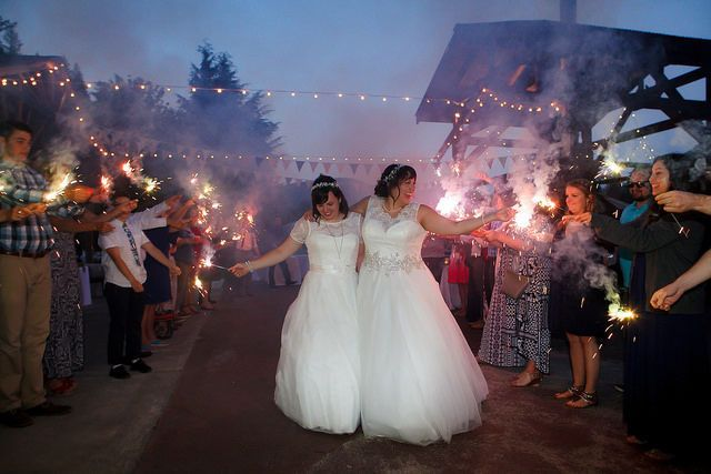 A magical sparkler moment.