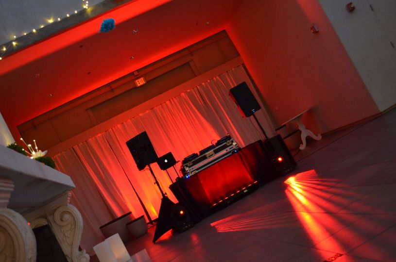 DJ reception setup