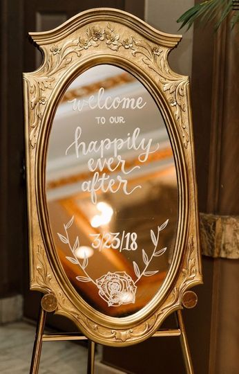 Beauty and the Beast themed welcome sign