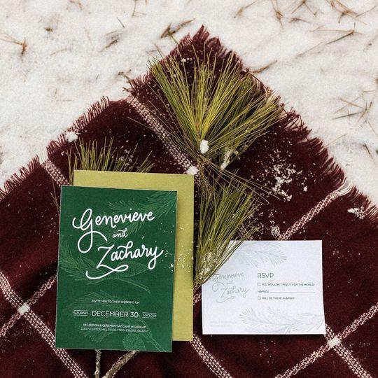 Invitation Suite for a rustic winter picnic