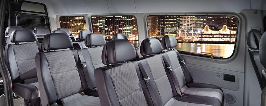 Inside passenger Van