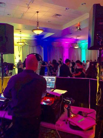 DJ & Uplighting on the dance floor