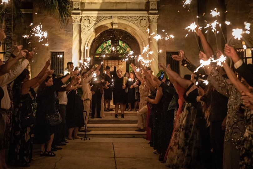 Sparkler exit at Howey Mansion