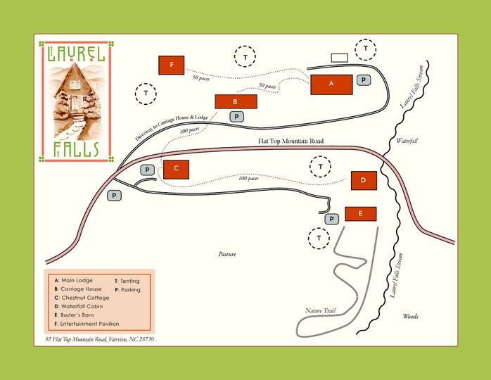 Laurel Falls Property Map.