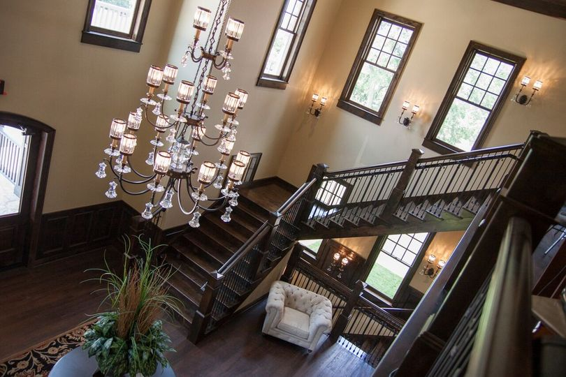 Chandelier and staircase