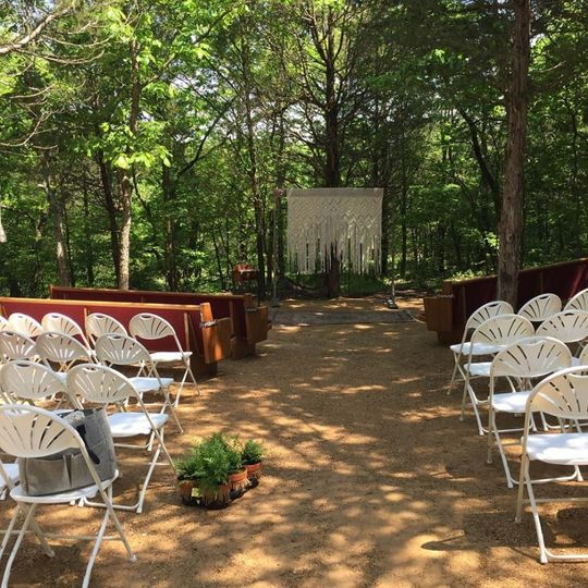 A beautiful outdoor ceremony