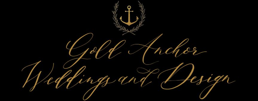 Gold Anchor Weddings and Design