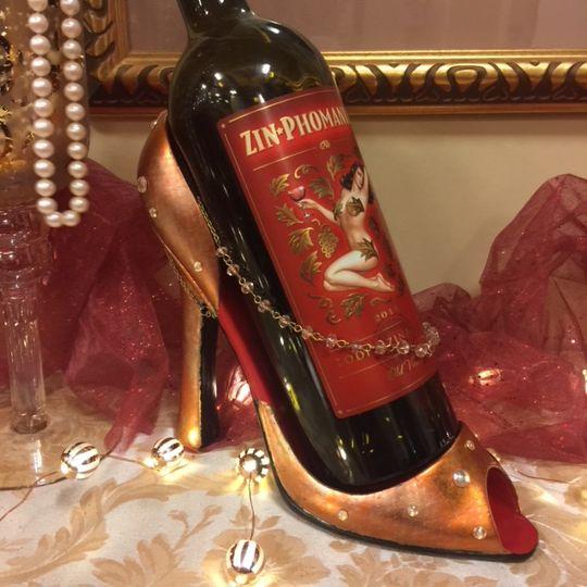 Rosegold leaf wine shoe