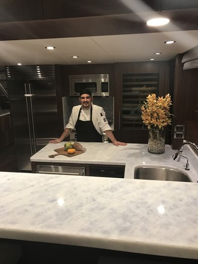 Personal chef work on a yacht