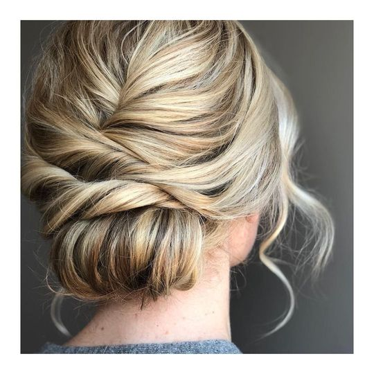 Simple textured updo