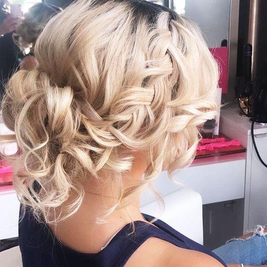 Textured updo with braid