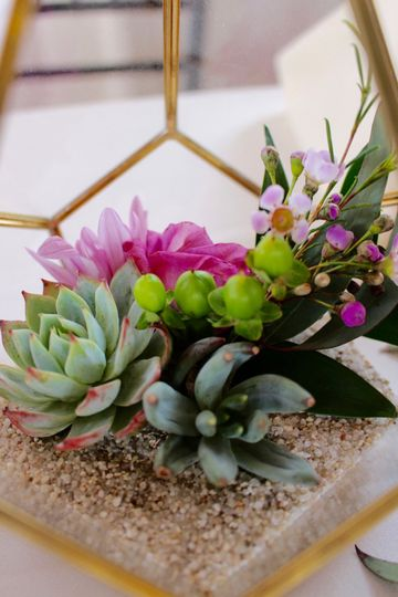 Succulent and floral terrariums