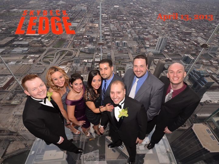 The SkyDeck Ledge 1454 feet above the city of Chicago.