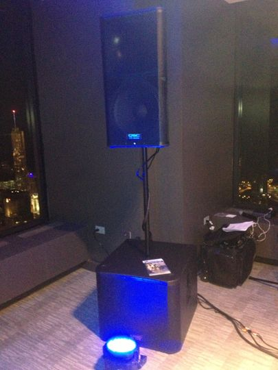 Add a subwoofer to your wedding reception and highly recommended in larger venues!