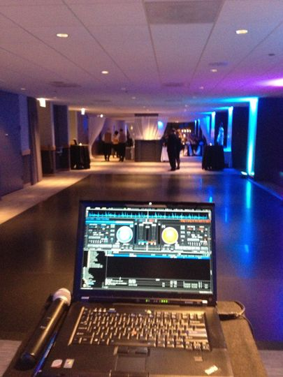 Homebase for the DJ. A behind the scenes look of what we see... We see your friends and family...