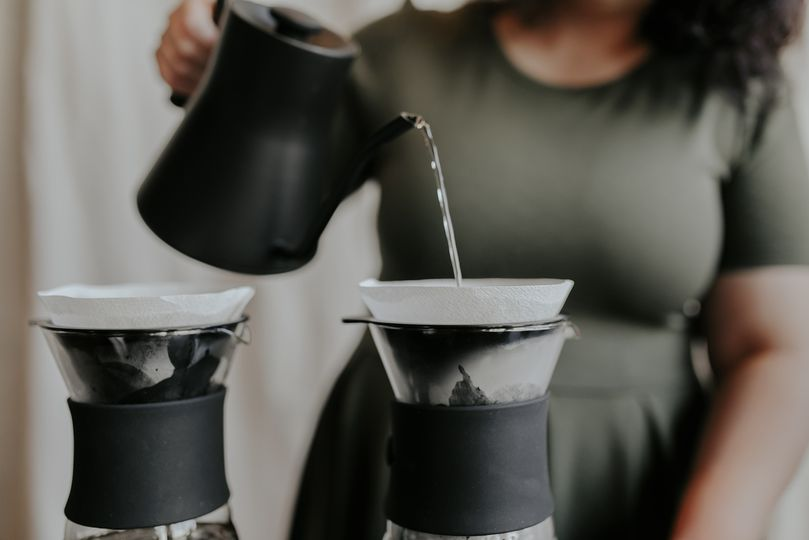 Pour over coffee service