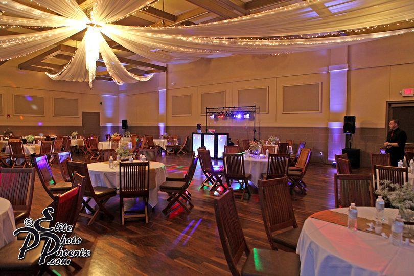 Elite Event Services set up for a wedding @ Noahs in Gilbert AZ