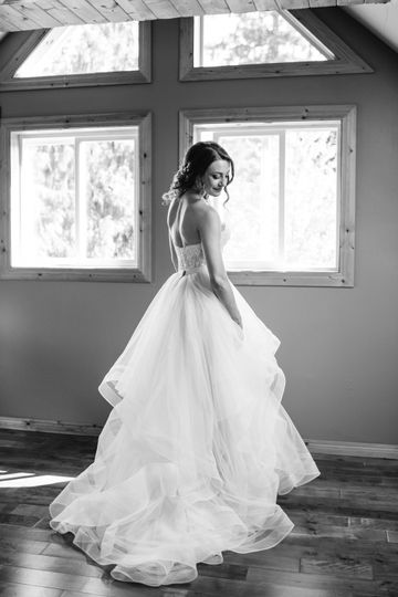 We have an elegant & airy bridal loft for the girls to get ready in.